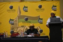 Cde Gogo Ndlovana presenting the Social Transformation Commission report at the ANC Caucus Lekgotla