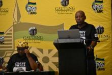 ANC GPL Caucus Member, Cde Paul Malema takes the podium, and addresses issues of constituency at the ANC Caucus Lekgotla