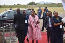 GPL Speaker Ntombi Mekgwe arriving at the SOPA 2020