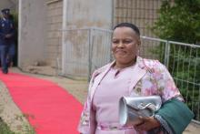ANC Caucus Member Dolly Ledwaba arriving at SOPA 2020