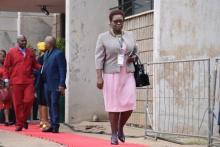 ANC Caucus Member Dr. Rebecca Phaladi-Dikgamela arriving at SOPA 2020