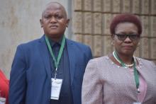 Dr. Rebecca Phaladi-Dikgamela and Member William Matsheke arriving at SOPA 2020