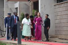 ANC Caucus Members Cde Fasiha Hassan, Cde Kedibone Diale and Cde Refiloe Kekana arring at the SOPA 2020