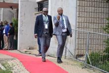 Johannesburg Major Geoff Makhubo arrives at the SOPA 2020
