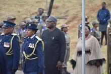 Premier David Makhura arriving at the 2020 State of the Province Address