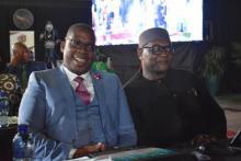 Education MEC Panyaza Lesufi together with Premier David Makhura at the 2020 SOPA