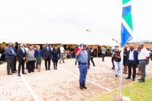 Gauteng Province Premier David Makhura, MEC's Mbali Hlophe and Tasneem Motara officially open the Atteridgeville Community Library.